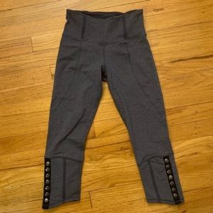 Gray work out Lululemon Mid Calf Leggings
